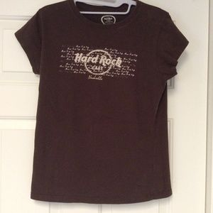 Hard Rock Cafe NASHVILLE Womens T-Shirt Sz Lg Tee